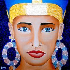 MIRADA DE EGIPTO Pintura acrílica sobre lienzo. 40 cm x 40 cm En venta.