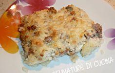 Riso al forno con salsiccia e gorgonzola