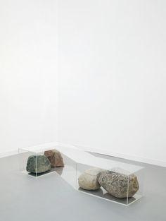 © Nicole Wermers. Rock Bench. Tanya Bonakdar Gallery