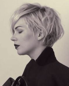 I'm considering having my hair cut short for the first time in many, many years. Maybe something like this?