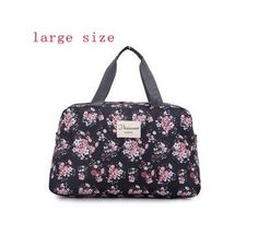 Women Travel Bags Handbags 2017 New Fashion Portable Luggage Bag Floral Print Duffel Bags Waterproof Weekend Duffle Bag