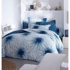 Housse de couette coton Magic indigo