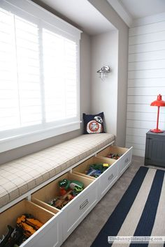 Organized Built-ins for Toys This brilliant toy storage would be perfect to hide away toys in our kids bedrooms. As a mother of four, I'm always looking for and sharing fresh ideas on how to add style and organization to our busy lives. Home Room Design, Home Interior Design, Master Room Design, Master Bedroom, Kids Room Design, Design Bathroom, Bathroom Interior, Bathroom Ideas, Kids Bedroom Storage