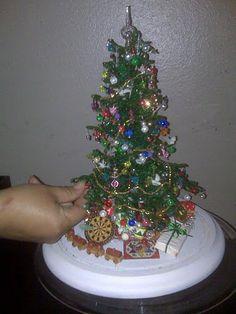 Tiny Beaded Christmas Tree.  Hand made by Winona Mell  Great Grandmother