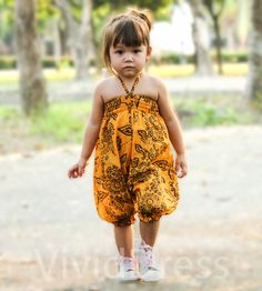 Toddler girl jumpsuit yellow romper overalls size 2T age 14 -24 months gift