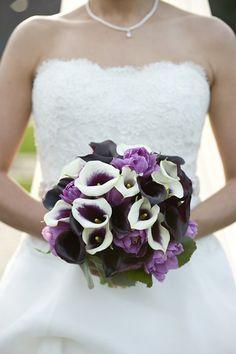 purple wedding bouquet.