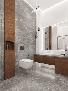 All About Comfort and Entertainment in Contemporary Bathrooms Bathroom Design Luxury, Modern Bathroom Design, Contemporary Bathrooms, Kitchen Design, Bad Inspiration, Bathroom Inspiration, Ideas Baños, Suites, Bathroom Flooring