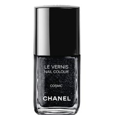 LE VERNIS COSMIC - Dark and sparkling, this exclusive creation evokes the brillianceof the night sky in intense black with blue and silver sparkle.  IN LOVE <3 <3 <3
