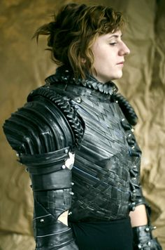 Grace DuVal 'Jeanne d'Arc' 2011 - used rubber bicycle tubes