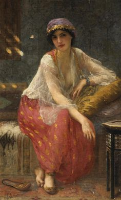 Charles Amable Lenoir - Odalisque (a female slave or concubine in a harem).
