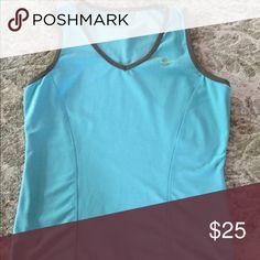 Gorgeous Nike top Nike fit dry top in turquoise color   Great condition!  Will bundle for 10% off Nike Tops
