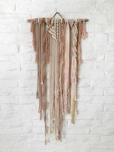 A personal favorite from my Etsy shop https://www.etsy.com/listing/515452013/macrame-wall-hanging