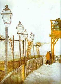 Vincent van Gogh - Montmartre (Autumn 1886) - Oil on canvas - The Art Institute of Chicago, Chicago, IL, USA