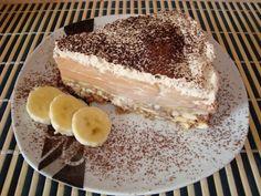 Tort de biscuiti cu crema de banane si caramel - imagine 1 mare