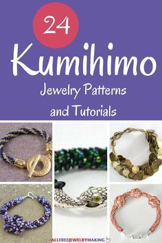 Kumihimo braiding is taking the jewelry-making world by storm! Don't miss out on this HOT trend - check out our guide on 24 Kumihimo Jewelry Patterns and Tutorials, complete with tips on how to start and finish kumihimo projects!