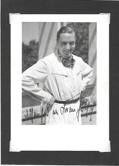MANFRED VON BRAUCHITSCH MERCEDES RENNFAHRER 1930s POSTCARD AUTOGRAPHED SIGNED Le Mans, Manfred, Vintage Racing, Baseball Cards, Photographs, Sports, Ebay, Image, Silver