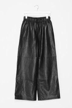 Crop Wide Leg Leather Pants