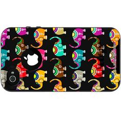 Colorful Elephant Pattern Case for iPhone 4