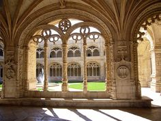 Decorated cloister arches.