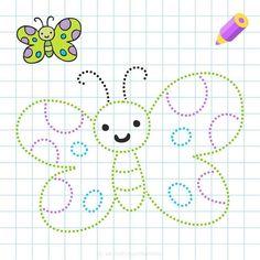Numbers Preschool, Free Preschool, Printable Preschool Worksheets, Worksheets For Kids, Tracing Worksheets, Toddler Learning Activities, Kids Learning, Learning Cursive, Maze Worksheet