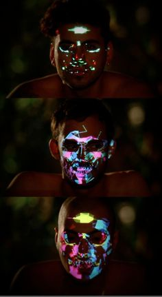 Playing with identity? (ZonoraPoint ZPlus - Face Projection Mapping by Trimex. Projection Installation, 3d Projection Mapping, Interactive Installation, Interactive Design, Cgi, Face Mapping, Animation, Glow, Art And Technology