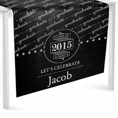Chalkboard Cheers - Personalized Graduation Party Table Runner   BigDotOfHappiness.com
