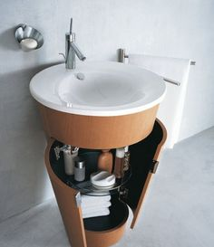 """Very cool sink/cabinet, just needs a waterfall faucet!  See the """"products"""" tab at http://www.archiexpo.com/ design washbasin cabinet STARCK 1 - #040658 by Philippe Starck DURAVIT"""