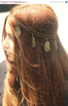 COLUMBUS DAY Sale Chain Headpiece Headband Hair por FunnyPeopleCo
