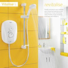 New Aqualisa Vitalise S Electric White from £108 at The Shower Doctor