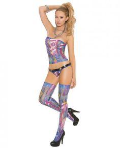 Multicolor Bandeau Set #fashion #beauty #shopping
