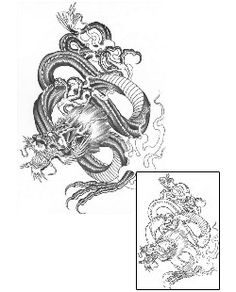 Dragon Tattoos BCF-00033 Created by Bill Canales