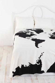 World map vintage duvet cover reversible bedding green natural atlas tapestry black comforterblack gumiabroncs Images