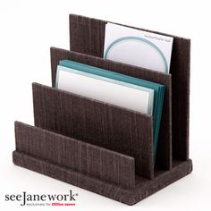 SeeJaneWork Brown Flax Desk Accessories in Office Depot January 1, 2013.