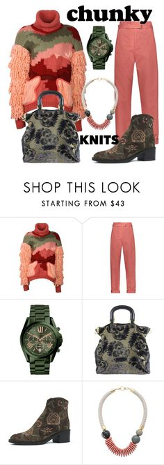 """Get Cozy"" by subvilli ❤ liked on Polyvore featuring Bashaques, Isabel Marant, Michael Kors, Prada, Progetto, polyvoreeditorial, chunkyknits and polyvorefashion"