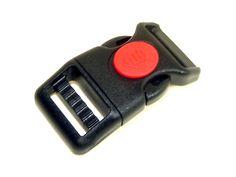 RED 1Inch Quick Release Cobra Buckle Strap Clip 25mm Adjustable Webbing Belt