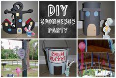 Mom has Cooties: DIY: Spongebob Party Homemade Spongebob Party Ideas, Birthday Parti, Spongebob Parti, Diy Spongebob Party, Cooti, Parties, Spongebob Birthday, Birthdayparti Idea, Spong Bob