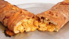 Buffalo Chicken Stromboli Recipe - Laura Vitale - Laura in the Kitchen E...