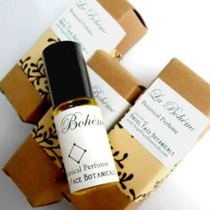 La Boheme - Angel Face Botanicals-- Rich Fruity Top Notes of Blood Orange & Lime A Warm Spicy Middle of Sweet Woodsy Juniper, Layered Lavenders & a Blend of Exotic Spices Smoldering, Earthy Base Notes develop with a Caress of comforting Vanilla, grounded by several vintages of aged Patchouli and a hint of Exotic Sandalwood that lingers softly on the skin…