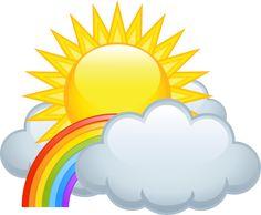 "Photo from album ""Цветная радуга"" on Yandex. Rainbow Cloud, Rainbow Theme, Sun Doodles, Good Morning Sun, Clipart Png, Thanks Greetings, Cartoon Clouds, Background Clipart, Girl Themes"