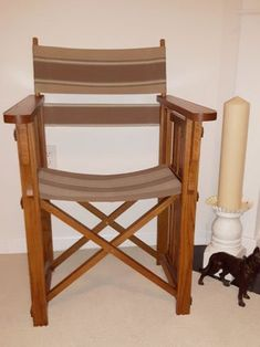Mission Style Folding Chair Ladder Stands, Extra Seating, Made Of Wood, Folding Chair, Condo, Dining Table, Furniture, Ideas, Design