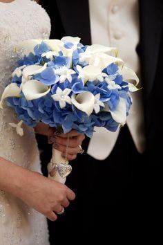 Blue flowers wedding