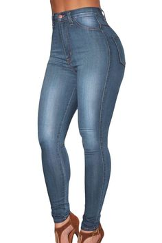 Made of high-stretch fabric ultra-comfortable to wear unique pattern and great design, stretches for perfect fit. High-waist denim jeans are timeless fashion favorite of women Material: 85% Cotton + 1