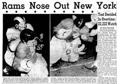 August 28, 1955: LA Rams and NY Giants Play First Overtime NFL Game at Multnomah Stadium, Portland Oregon