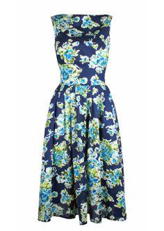 50s Boat Neck Dress - blue limited edition £75 http://www.20thcenturyfoxy.com/en/just-added/50s-boat-neck-dress-blue