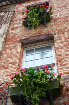 Flower Boxes  Photography Windows Savannah Wall by VisualSerenade on Etsy, $25.00