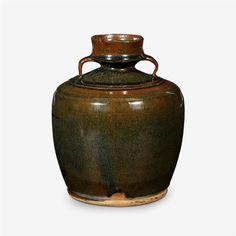 A Chinese 'Jian' 'hare's fur' wine jar, guan, Song dynasty (960-1279)