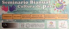 Seminario Cultura de Paz #Mérida 2014 @CatedradelaPaz Universidad de Los Andes