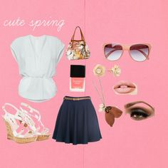 cute girly spring 3, created by samantha-hunter on Polyvore