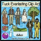 Tuck Everlasting Clip Art   Looking for a set of clip art for your Tuck Everlasting unit? This set is definitely for you!  Product includes: • Winnie Foster • Jesse Tuck • Miles Tuck • Angus Tuck • Mae Tuck • Man in Yellow Suit • Music box • Toad • Pond and rowboat • Tree with water spring • Spring water bottle  Use these 19th Century themed images for your own teaching resources or print them off for making your own uniquely themed bulletin boards in your classroom!