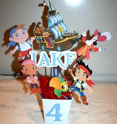 Jake the neverland pirate Love center pieces